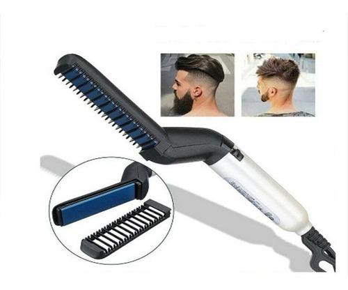 Cepillo Peine Alisador Electrico Hombres Cabello Barba