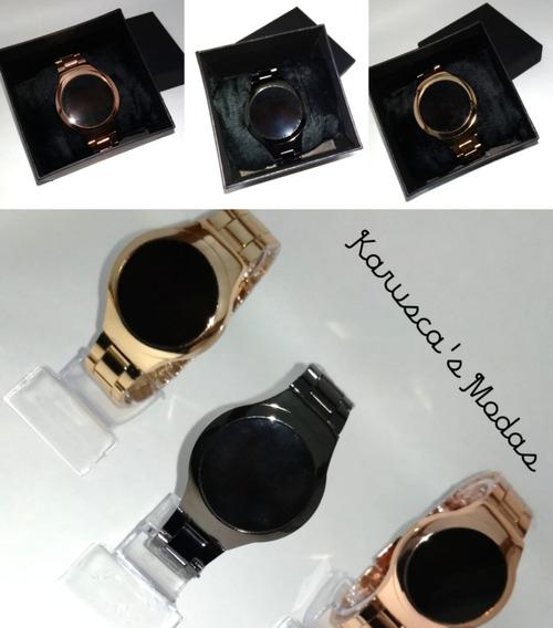 Relógio Feminino Digital Led Touch Importado + Caixa