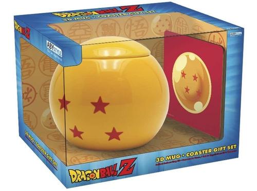 Taza Esfera Del Dragón Con Portavasos Dragón Ball Z