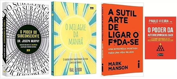 O Poder Do Subconsciente + O Milagre Da Manhã + + 2 Livros