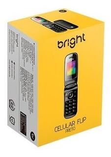 Celular Bright Flip Preto