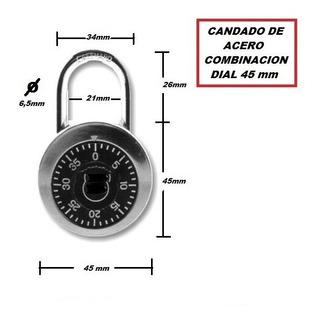 Candado Dial Acero Combinacion 7 Cm (suelto) E4251+