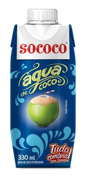 Agua De Coco Sococo 330ml Kit Com 12 Unidades