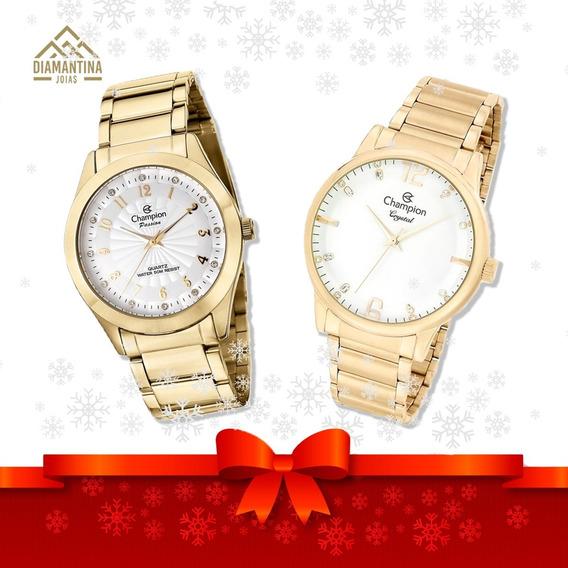 Kit Com Dois Relógios Champion Originais Com Garantia E Nf