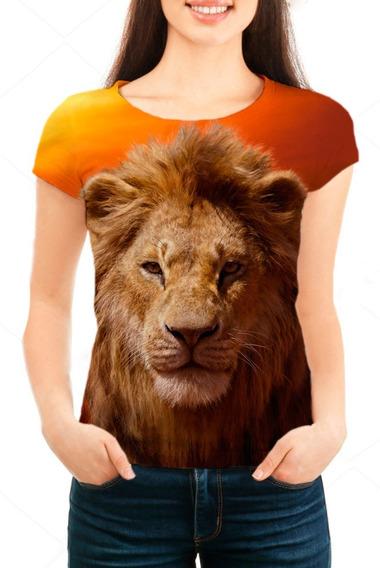 Camiseta Babylook Feminina Filme Rei Leão Simba - Mn01