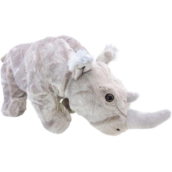 Pelúcia Rinoceronte Safári Cinza De 37 Cm Comprimento Oferta