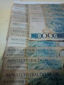 Cedula De 100 Mil Cruzeiros Lote 322 Com 14 Unidades Jk