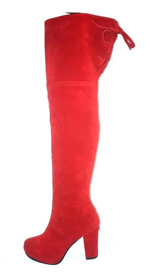 Bucanera Roja De Gamuza. Penelope Shoes Ok