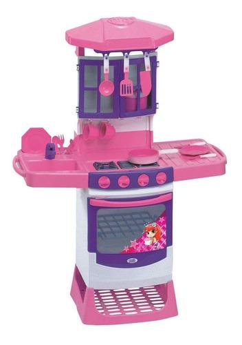 Cozinha Mágica Infantil Magic Toys Com Fogão Pia Acessórios