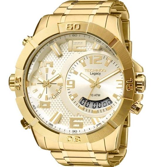 Relógio Masculino Technos Legacy Dual Time T205fi/4x