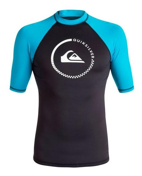 Playera Deportiva Para Surf Ajustable Negro Azul Quiksilver