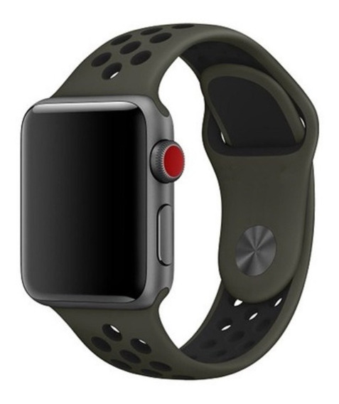 Pulseira Estilo Nike Para Apple Watch 38/40mm - Cargo Khaki