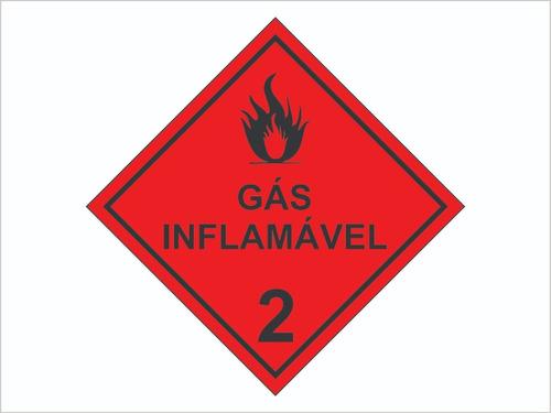 Adesivo P/ Caminhão Gás Inflamável 2 Produtos Perigosos
