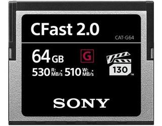 Tarjeta De Memoria De Sony De 64 Gb Cfast G Serie 530mb/s