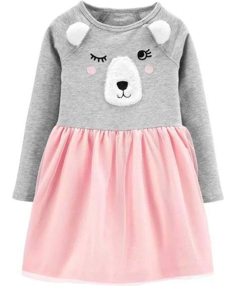 Vestido De Inverno Carters Ursinho 24 Meses Ursinho