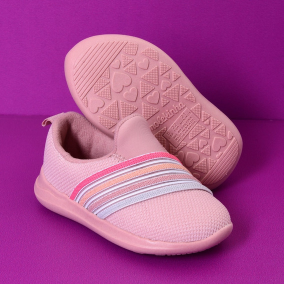 Zapatilla Molekinha Niñas Nenas Multicolor Rosa Deportiva
