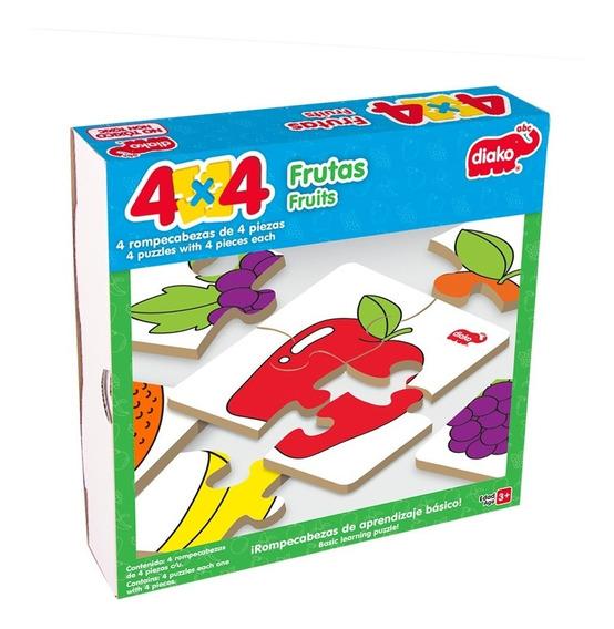 Set De 4 Rompecabezas 4 Piezas Para Niños. $155 Cada Set