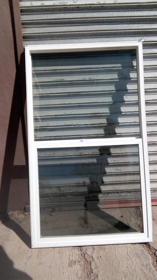Ventana Americana Lisa Doble Vidrio Pvc 3x5 Pies