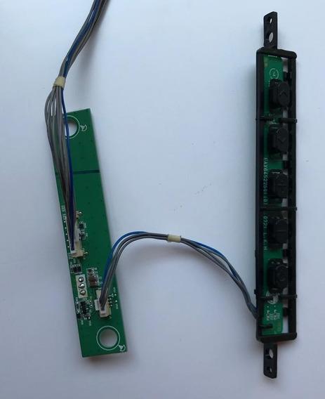 Sensor Controle + Teclado De Funções Tv Lg 32lt360c