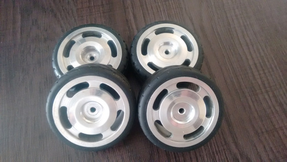 Jogo De Rodas E Pneus Automodelo 1/10 Aluminio