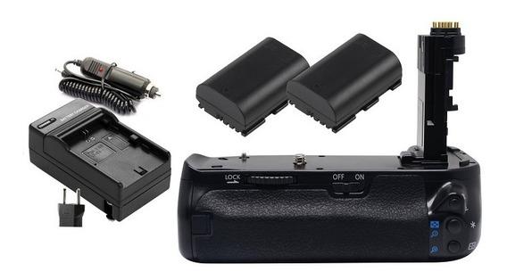 Grip Bg-e21 P Canon 6d Mark Ii + 2 Baterias + Carregador