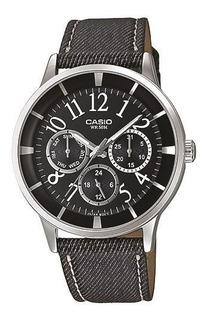 Reloj Mujer Casio Ltp2084lb-1b Malla Textil Sumergible