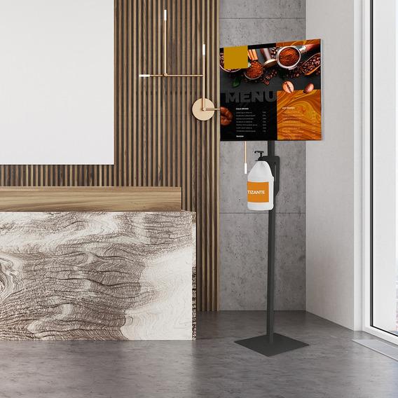 Pedestal Para Dispensador Gel Antibacterial Y Publicidad Eli