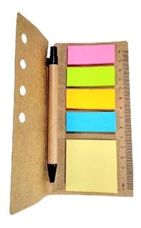 Libreta Anotador + Bolígrafo X 5 Unidades