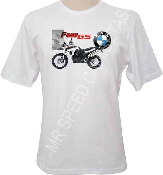 Camiseta Motocicletas Bmw F800 Gs Branca