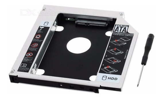 Case Adaptador Dvd Para Hd / Ssd Notebook Drive Caddy 12.7mm