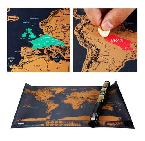 Mapa Raspadita Mapamundi P/raspar Deluxe 59x83- Artico Store