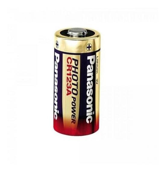 Bateria 3v Lithium Photo Cr123a Panasonic - Cxm / 10