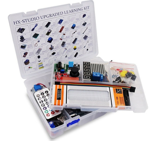 Imagen 1 de 4 de Starter Kit Arduino Uno R3 Principiantes Completo 44 Items