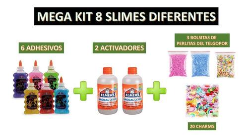 Megakit Para Hacer 8 Slimes Diferentes Elmers Charms Crunchy
