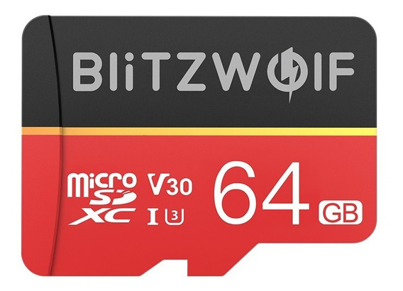 Cartão Microsd 64gb Blitzwolf Bw-tf1 V30 Classe 10