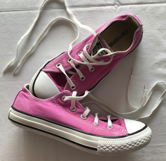 Converse. All Star. Zapatillas Lona Rosa. Talle 32