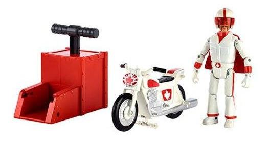 Boneco Personagem Duke Caboom Com Moto Lançador - Mattel