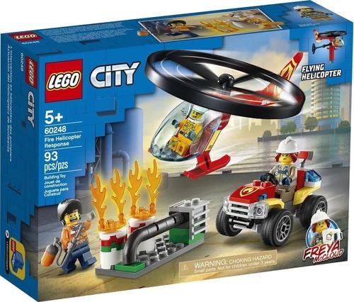 Imagen 1 de 6 de Lego City 60248 Helicoptero Volador De Bomberos Magic4ver