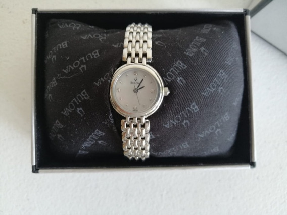 Reloj Dama Bulova Zafiro Plateado Nuevo Mdelo 96p122
