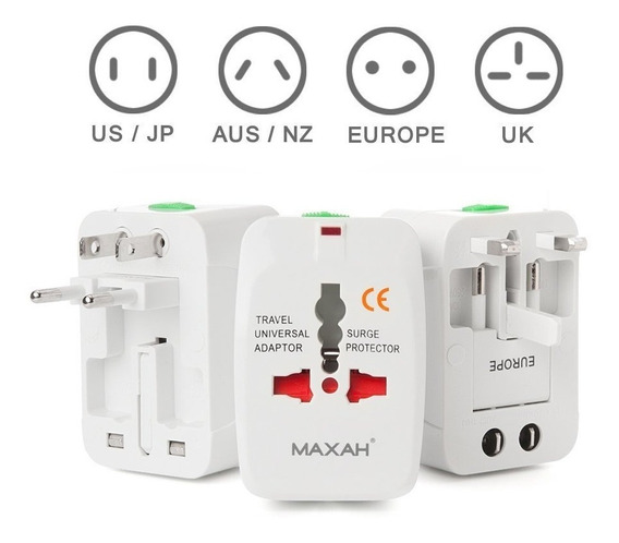 Adaptador Universal De Contactos America/europa/ru/australia