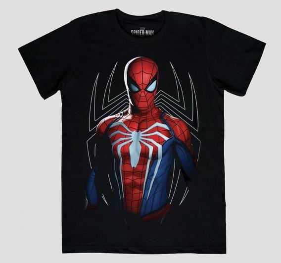 Spider-man (ps4) Camiseta Máscara De Látex