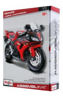 Kit Para Montar Honda Cbr 1000rr 1:12 Maisto Vermelho
