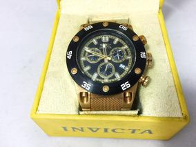 Relógio Invicta Dourado Com Preto Em Aço Original Perfeito
