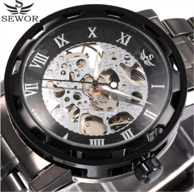 Relógio Barato Masculino Semi-automático Esqueleto Winner