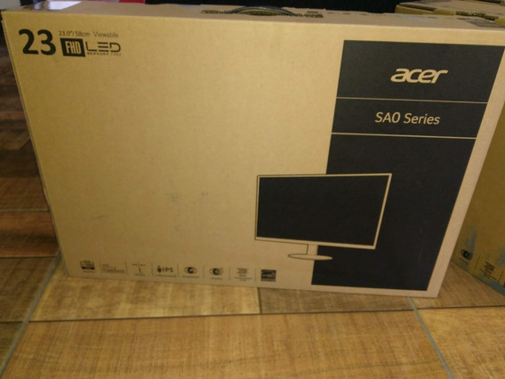 Monitor Gamer Acer 23 Full Hd 1ms 75hz Sem Uso