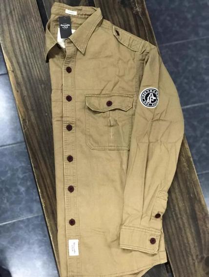 Camisa Gabardina Abercrombie & Fitch