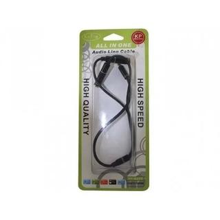 Cable Divisor De Audio Dual Para Audifonos Y Microfono