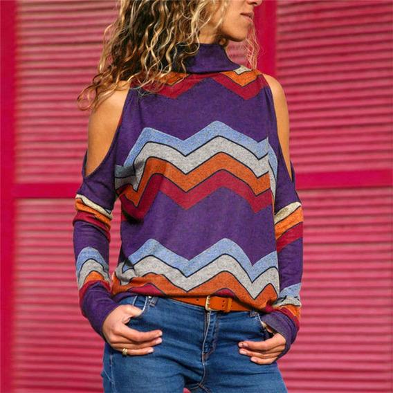 Blusa De Mujer Nueva Atractivas Estampado Geométrico Ropa