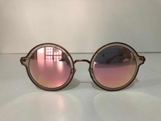 Óculos Round/ Redondo Lente Rosê