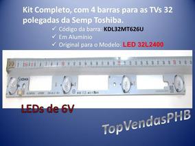 Kit Barramento Para 32l2400, Cod. Kdl32mt626u Alumínio 4pçs